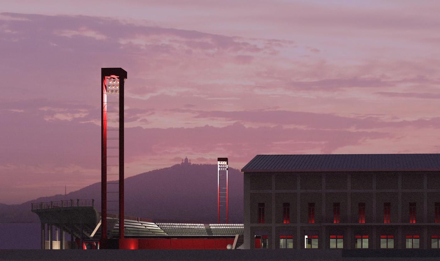 Nuovo Stadio Filadelfia a Torino. Progetto vincitore del concorso di idee. Render | Bottega di Architettura