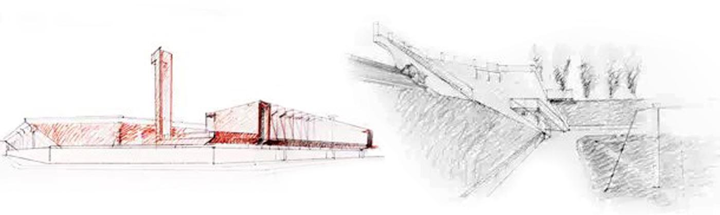 Nuovo Stadio Filadelfia a Torino. Progetto vincitore del concorso di idee. Schizzi progettuali | Bottega di Architettura