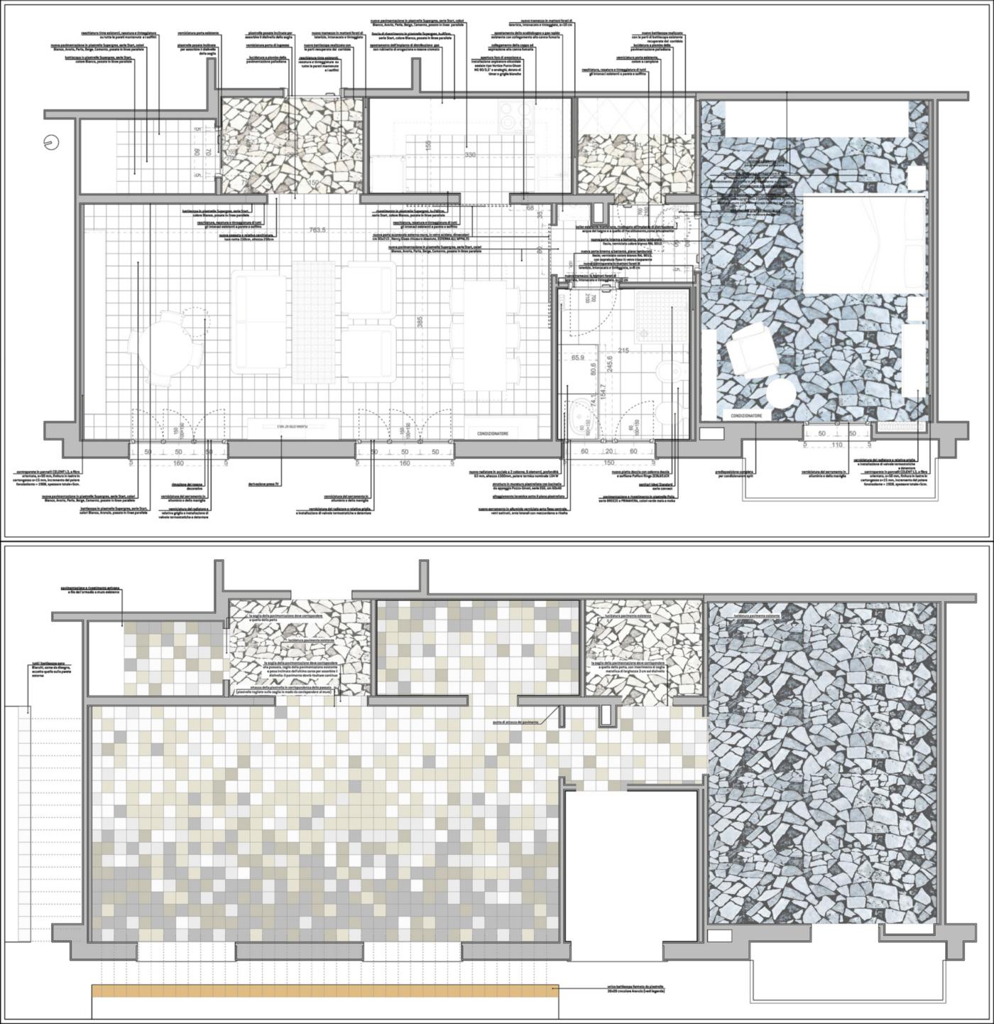 Una ristrutturazione a basso budget che rivoluziona spazi e percezione. Il progetto di ristrutturazione | Bottega di Architettura