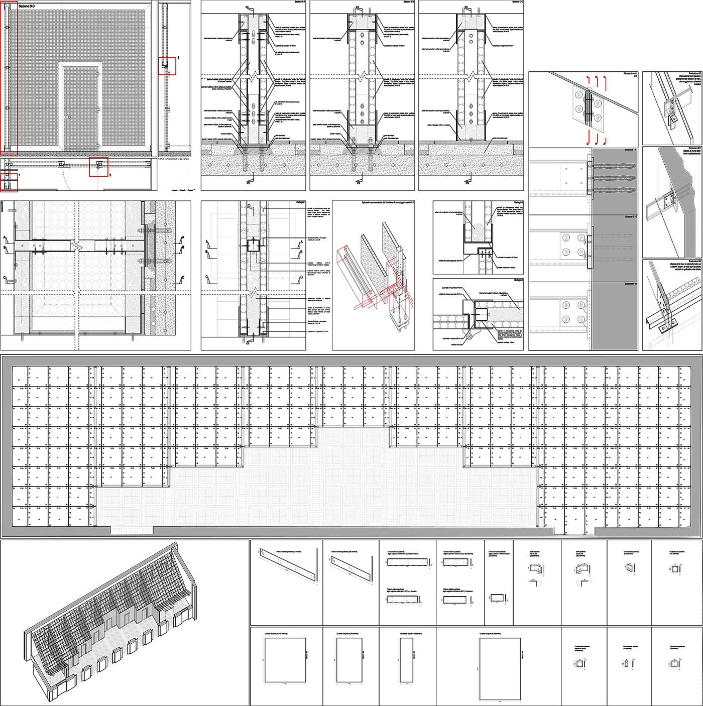 Restauro e trasformazione in uffici di un palazzo ottocentesco. Disegni costruttivi delle pareti e dei dettagli, studiati ad hoc | Bottega di Architettura