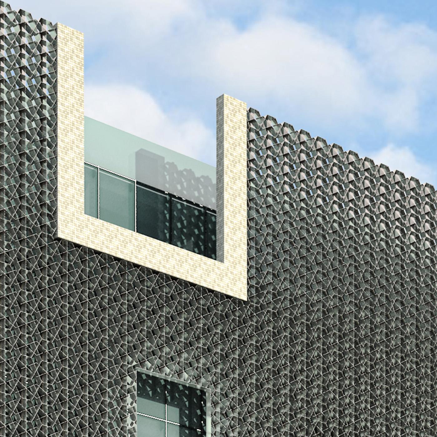 Il nuovo centro direzionale per la Banque Tuniso-Libyenne a Tunisi. Dettaglio | Bottega di Architettura