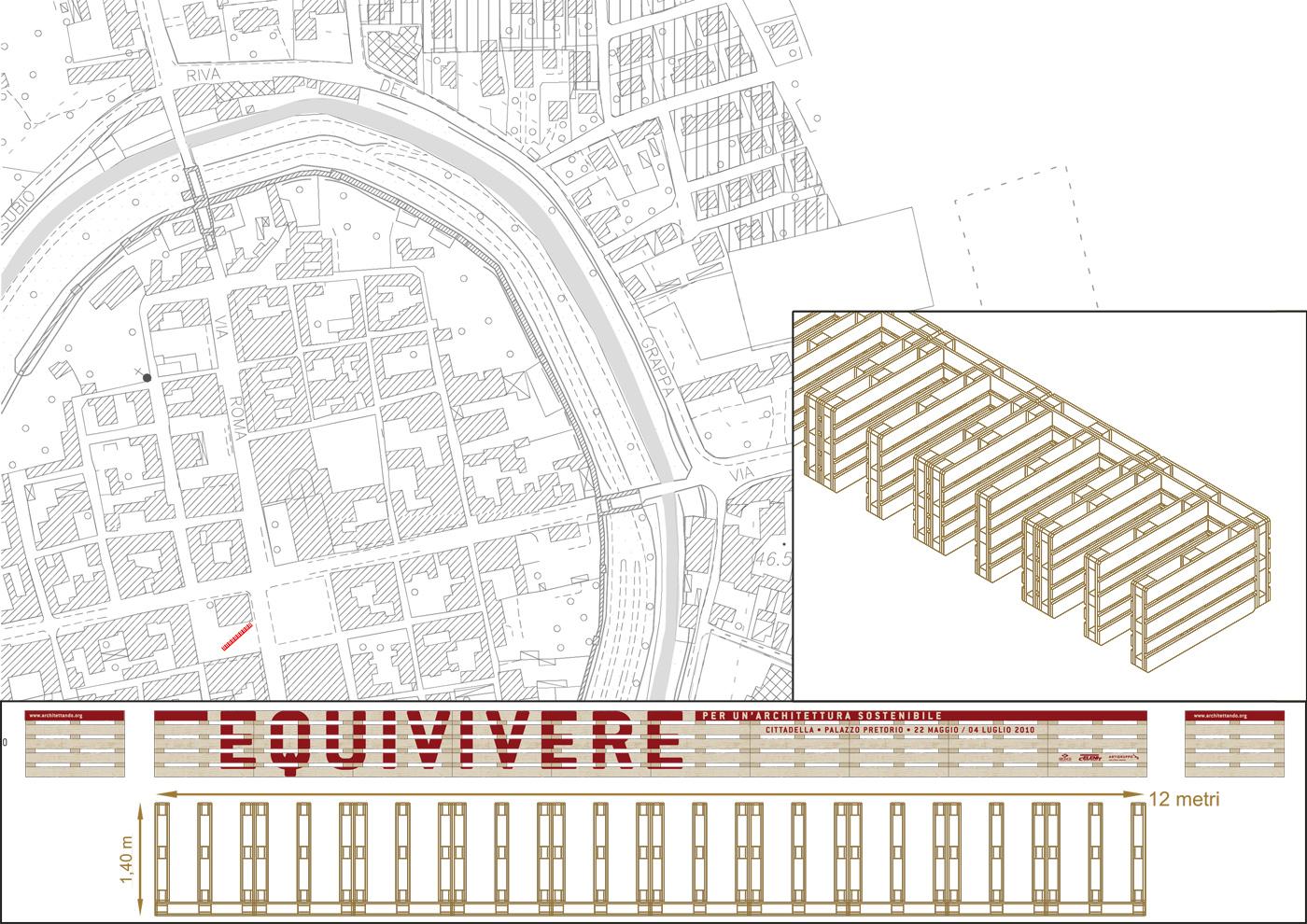 Installazioni urbane per una rassegna sulla sostenibilità. La diga porta-bici, il progetto | Bottega di Architettura