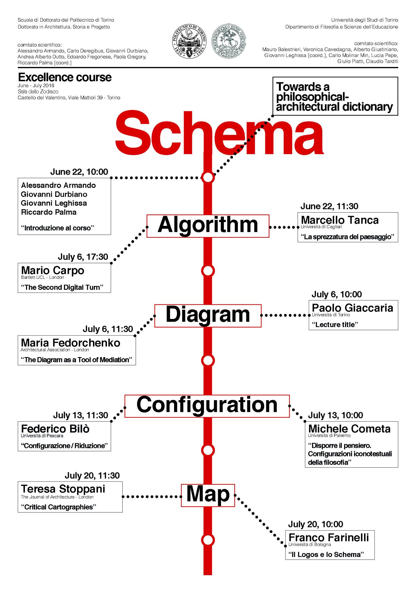 """Carlo Deregibus è nel comitato scientifico di """"SCHEMA. Towards a philosophical-architectural dictionary"""", una nuova serie di incontri tra filosofi e architetti"""