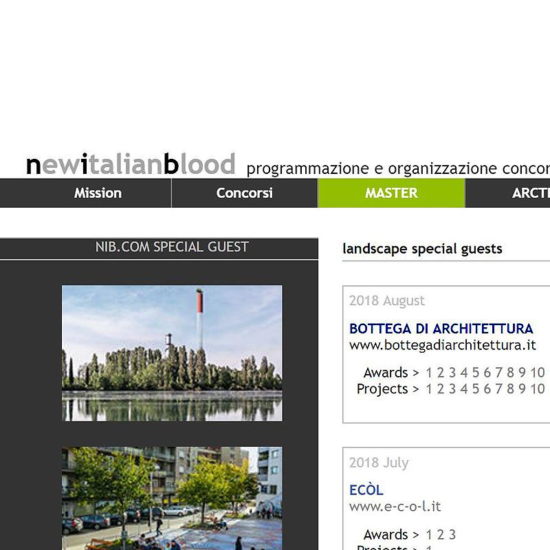 """Da oggi e per tutto il mese siamo """"Landscape Special Guest"""" su NewItalianBlood.com!!!   Bottega di Architettura"""