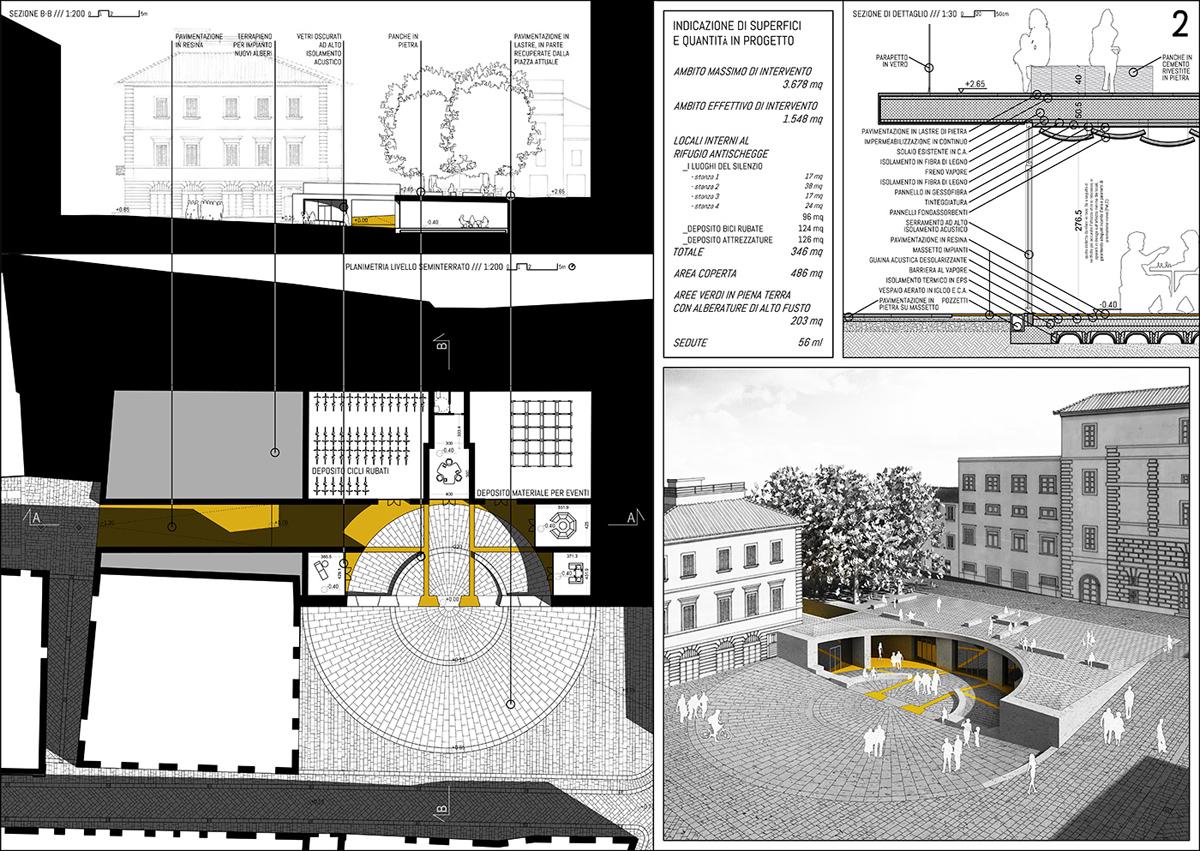La riqualificazione di piazza Matteotti a Foligno è la riconquista dello spazio | I Luoghi del Silenzio | Bottega di Architettura