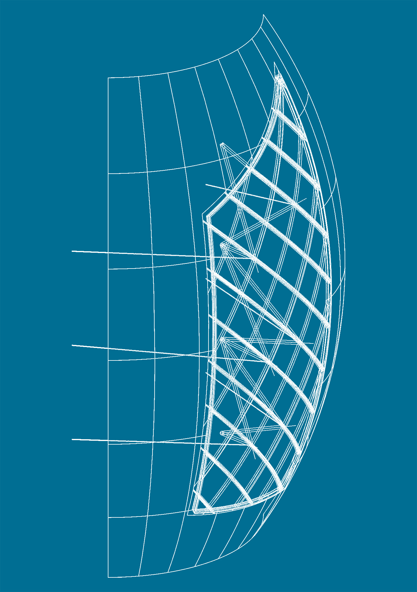Il nuovo centro sportivo della Sohar University, in Oman, con le sue iconiche vele | project management | schema per l'ingegnerizzazione delle vele | Bottega di Architettura