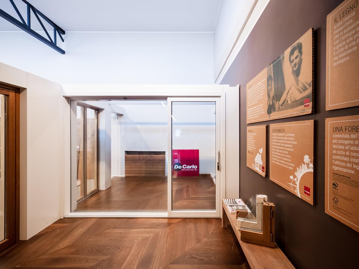 PARITAL | uno showroom nello showroom, un luogo in un luogo | scorcio interno | Bottega di Architettura